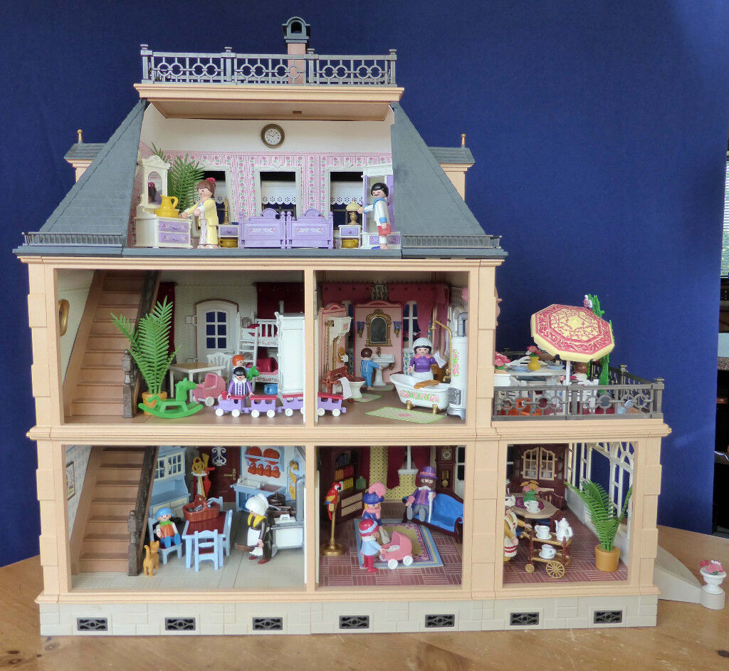 Boxed playmobil 5300 furnished victorian mansion house - La maison moderne playmobil ...