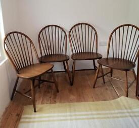Ercol Dining Chairs x 4