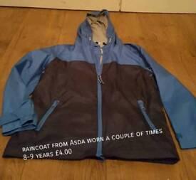 Boys Raincoat from Asda size 8-9 years
