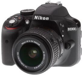 Nikon D3300 DSLR Camera, 18-55mm, 24.2mp, Barely used