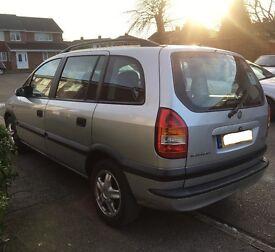 2002 Vauxhall Zafira DTI, 2 Litre Diesel, 12 Months MOT
