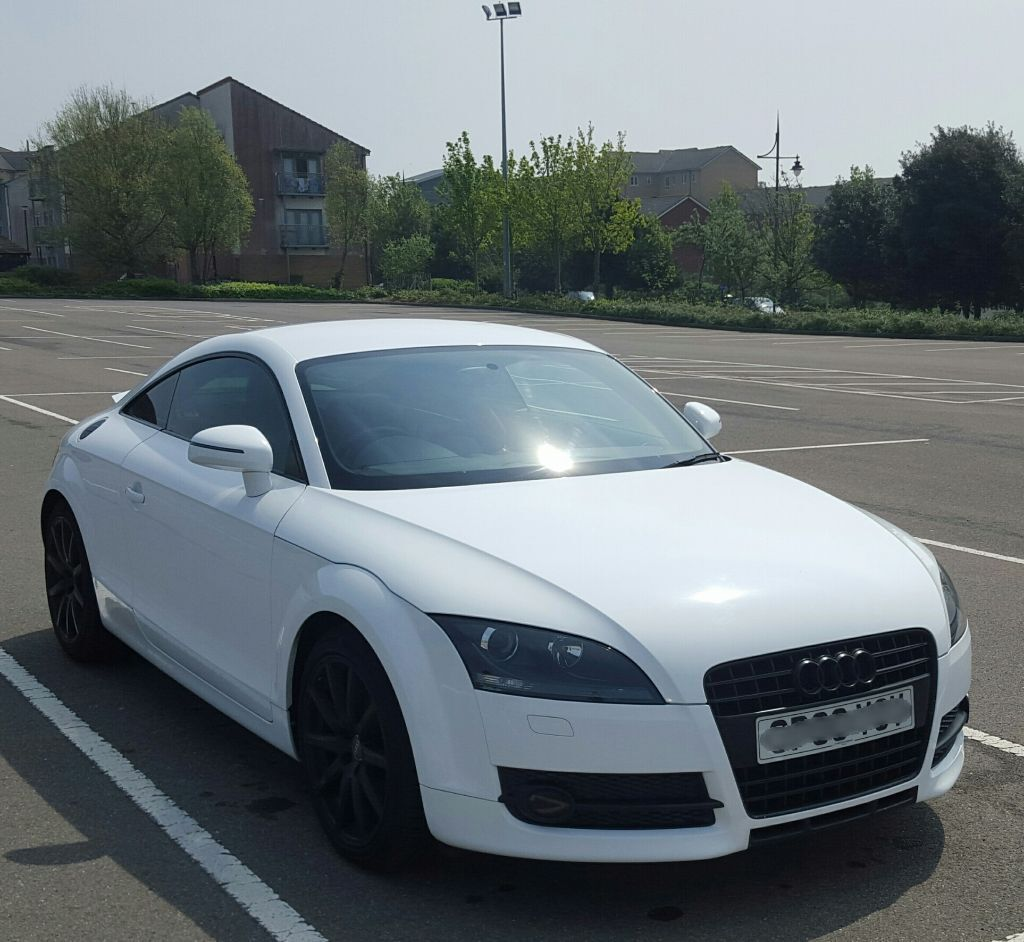 audi tt mk2 ibis white coupe 2 0 turbo 200bhp may px for tts bmw z4 or convertible. Black Bedroom Furniture Sets. Home Design Ideas