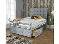 🔴🔵CLEARANCE SALE LUXURY DIVAN BEDS& SLEIGH BEDS WITH MATTRESS FREE NATIONWIDE DELIVERY