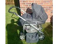 Silver Cross Linear Freeway Pram and Pushchair - Charcoal