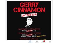 3 X Gerry cinnamon tickets for sale