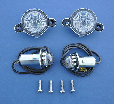 55 56 57 Chevy Nomad, Wagon & Sedan Delivery License Light Housing Assemble *NEW