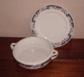 Alfred Meaking Dish and Plate. Floral Pattern (Antique)