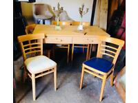 Kitchen Table and 6 chairs. You choose the finish.