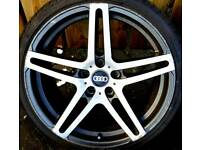 """##CHEAP## 19"""" Audi alloys 5x112 with excellent tyres."""