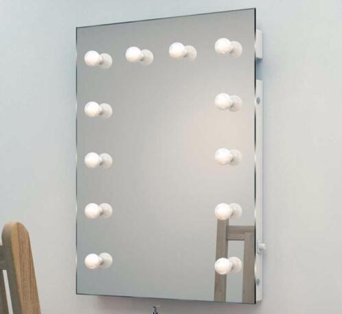 design visagiespiegel make up spiegel met dimbare lampen. Black Bedroom Furniture Sets. Home Design Ideas