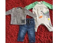 Huge bundle of baby Boys 0-6 Months clothes and accesories