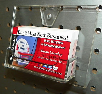 Large Pegboard Business Card Holder Display Clear Durable Quality Acrylic