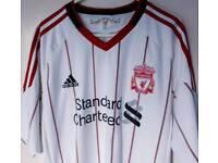 Liverpool Away Shirt 2010 Mens Large