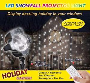 LED SNOWFALL PROJECTOR LIGHT-PREBOOKING!!!! *****  FREE SHIPPING****** GREAT FOR XMAS/HOLIDAYS