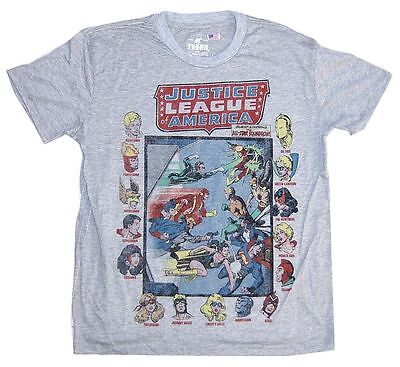 DC Comics Trunk LTD Justice League of America Squadron Grey T Shirt (Trunk Tee Shirts)