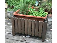 2x Asholmen ikea wooden flower boxes/ planters