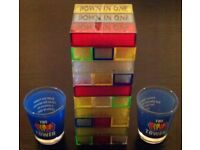 'Tipla Tower' & Two Shot Glasses (new)