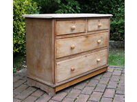 Victorian - Antique - Chest of Drawers - 2 Over 2