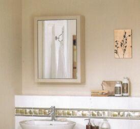Oak or Wenge Mirrored Bathroom Cabinets 500x700x180