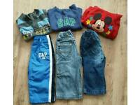 Boys jumpers, jeans & tracksuit bottoms age 12-18 mth