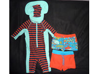 M&S boys swimming costume and shorts