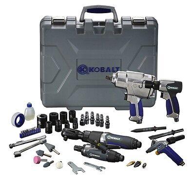 KOBALT 50 Pc Air Tool Kit Pneumatic Impact Wrench Hammer Rotary Tool Die Grinder