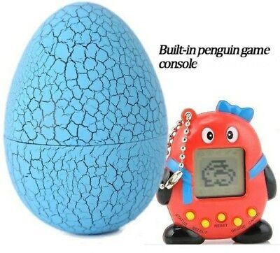 Virtual Pocket Pet Penguin Key Chain In Tumbler Egg