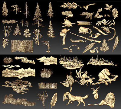 Hunting Collection Of Elements Stl Models Decor For Cnc - Vectric Rlf Artcam