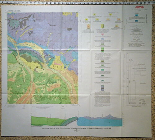 USGS WOODY CREEK COLORADO GEOLOGIC MAP, Pitkin & Eagle Counties 1972 NICE!