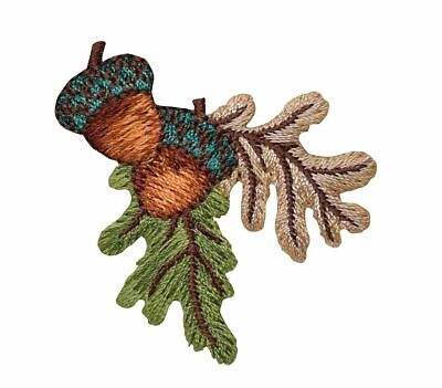 Acorns - Oak Tree - Fall/Autumn Leaves - Iron on Applique/Embroidered Patch