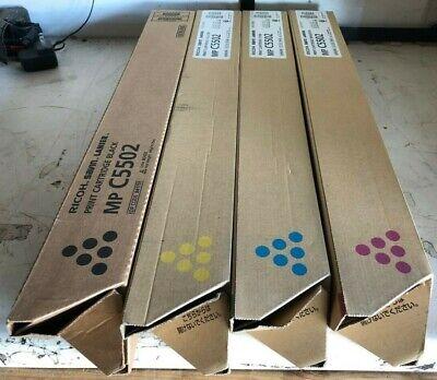 Genuine Ricoh Savin Lanier Full Toner Set Cymk Mpc5502 Mpc4502