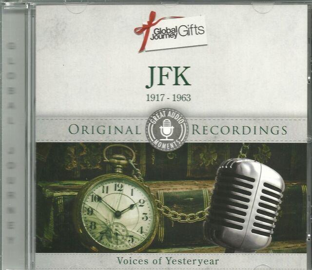 JFK 1917 - 1963 CD VOICES OF YESTERYEAR ORIGINAL RECORDINGS