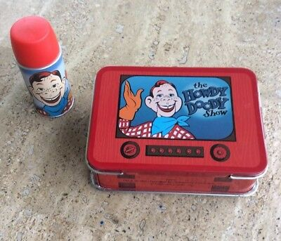 HOWDY DOODY METAL MINI LUNCH BOX WITH THERMOS FROM HALLMARK ORNAMENT 1998