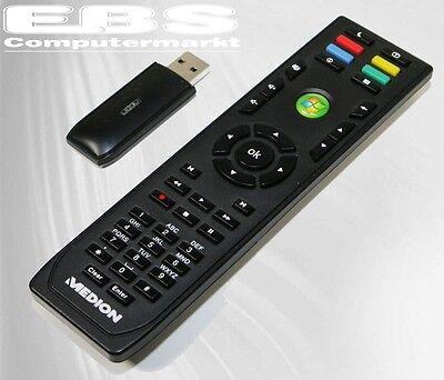 Medion Media Center PC Fernbedienung Remote Control RC-0617 mit USB Empf. Neu