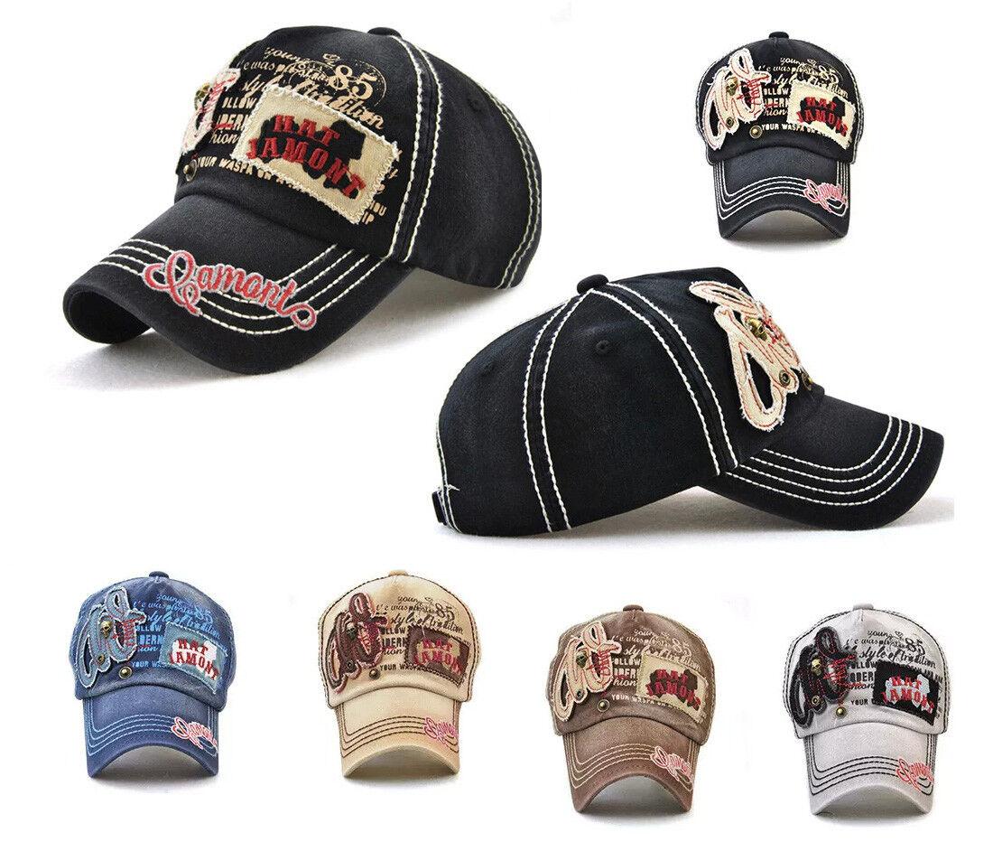 Fashion Basecap Coole Mütze Unisex Totenkopf Vintage Baseball Motocross Skull