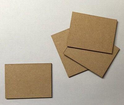 4 x rectangle Bases 3 Mm Laser Cut Mdf 80 Mm x 40 Mm Wargames bolt action