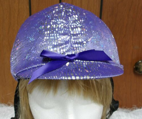 Hunt Helmet English/Hunt Covers Purple with Silver Foil Print