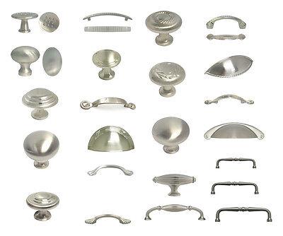 Brushed Satin Nickel Knobs Pulls Kitchen Cabinet Handles Hardware Closet Vanity ()