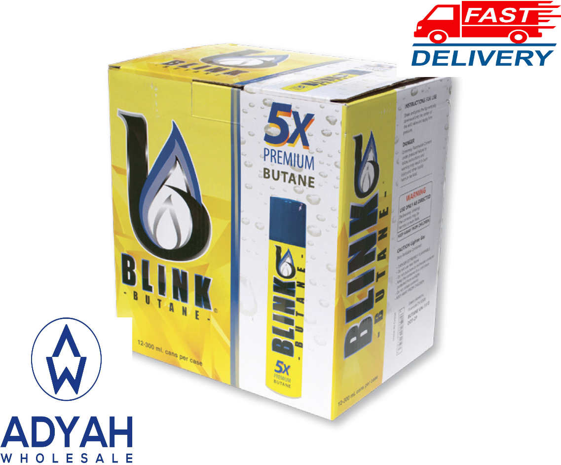 12PC BLINK 5X ULTRA REFINED BUTANE GAS FILTERED LIGHTER REFI