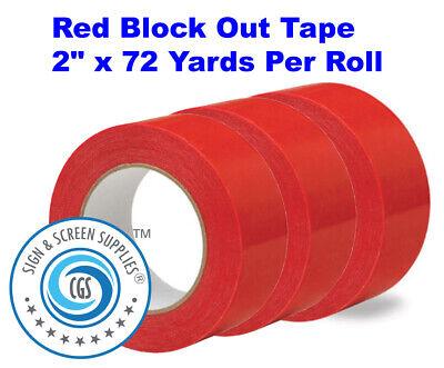 3 Rolls Premium Silkscreen Screen Printing Block Out Tape 2 X 72 Yards Per Roll