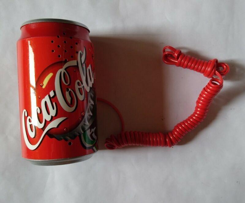 Working Vuntage Coca Cola Coke Can Telephone Push-Button Phone w/cord