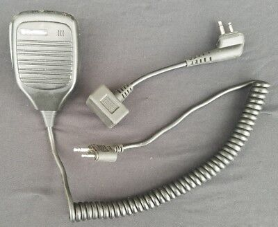 Free Shipping Motorola 50225 Remote Speaker Microphone Radio Mic W Adaptor
