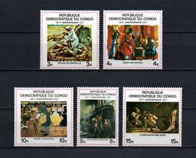 Belgisch Congo Belge Rep. Congo n° 708/712 MNH Paintings Peintures c3.00Eu