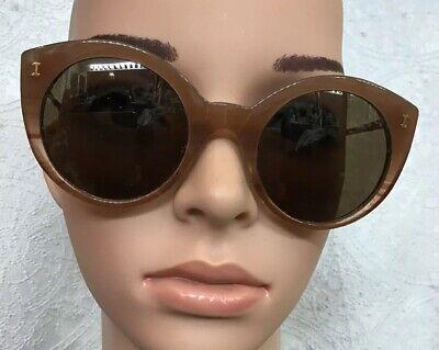 Illesteva Sunglasses Brown Frame Palm Beach Gold Arms
