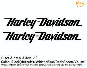 2 Pcs Harley Davidson Stickers Reflective Motorcycle Decals Stickers Best Gift-