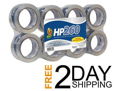 Duck Hp260 Packing Tape Refill Heavy Duty 8 Rolls 1.88 Inch X 60 Yard Clear