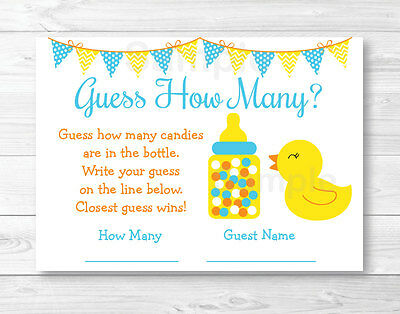 Rubber Duck Game - Rubber Duck Baby Shower