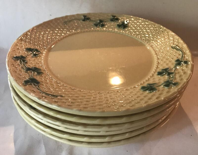 6-Bordallo Pinheiro SHAMROCK Dinner Plate