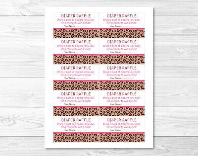 Pink Cheetah Print Party Supplies (Pink Cheetah Print Printable Baby Shower Diaper Raffle)