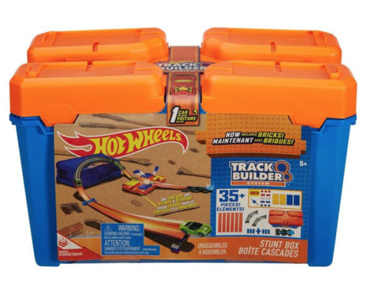 Track Builder Set Hot Wheels Race Stunt Box Playset Booster